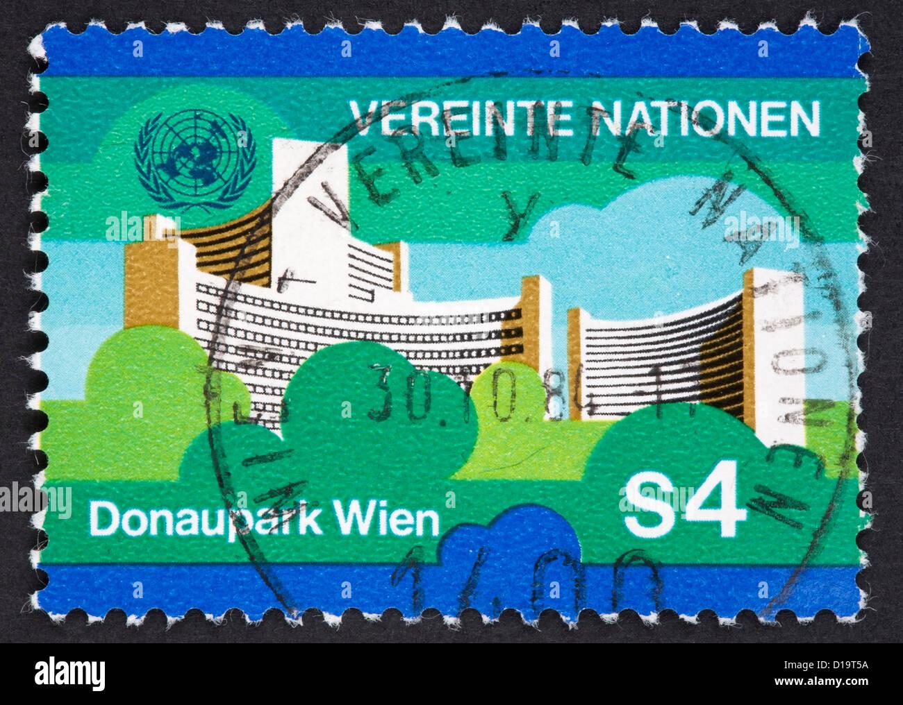 UN postage stamp - Stock Image