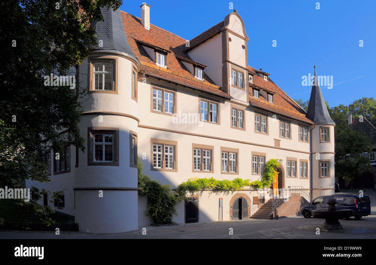 in Maulbronn, Duke's hunting lodge, the Lutheran theological seminary school with boarding facilities, im Kloster Maulbronn, Stock Photo