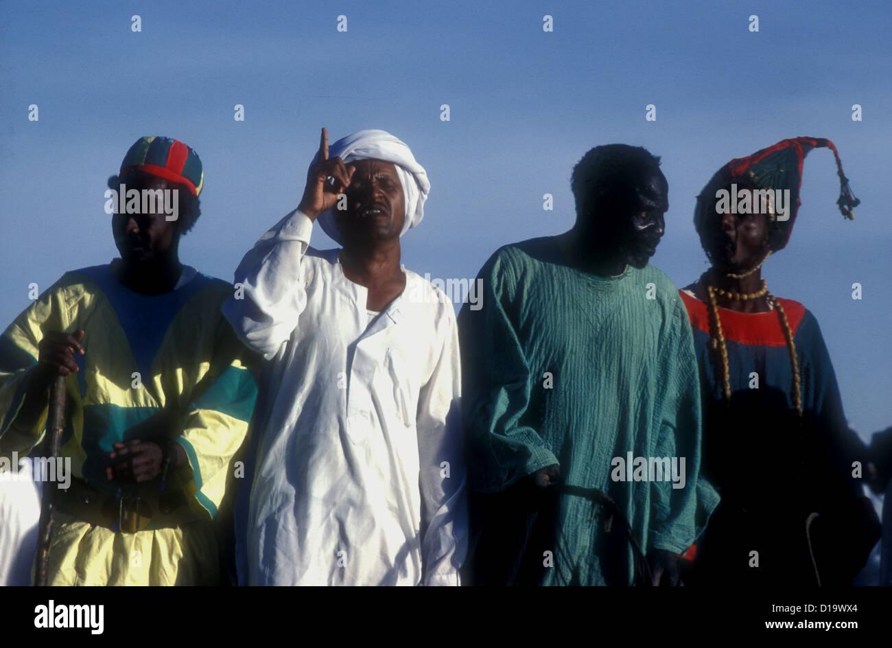 Dervish or Sufi dancers in Omdurman Sudan - Stock Image