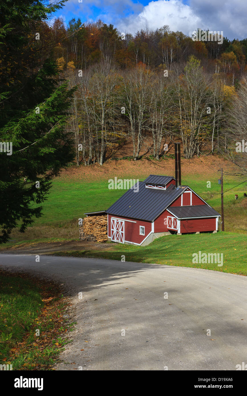 Famous Sugar Mill, Vermont - Stock Image