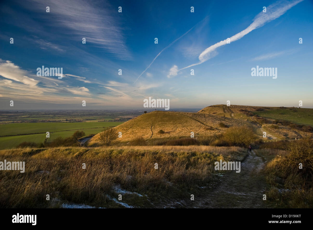 Ivinghoe Beacon at the end of The Ridgeway National Trail, Buckinghamshire, UK - Stock Image