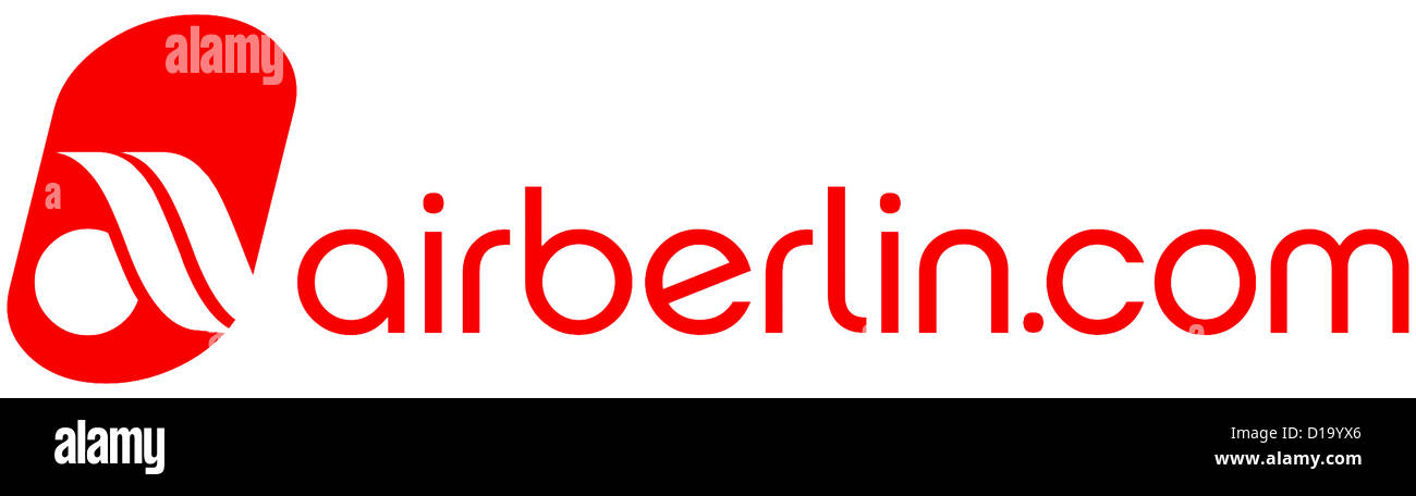 Logo of the German airline company Airberlin. - Stock Image