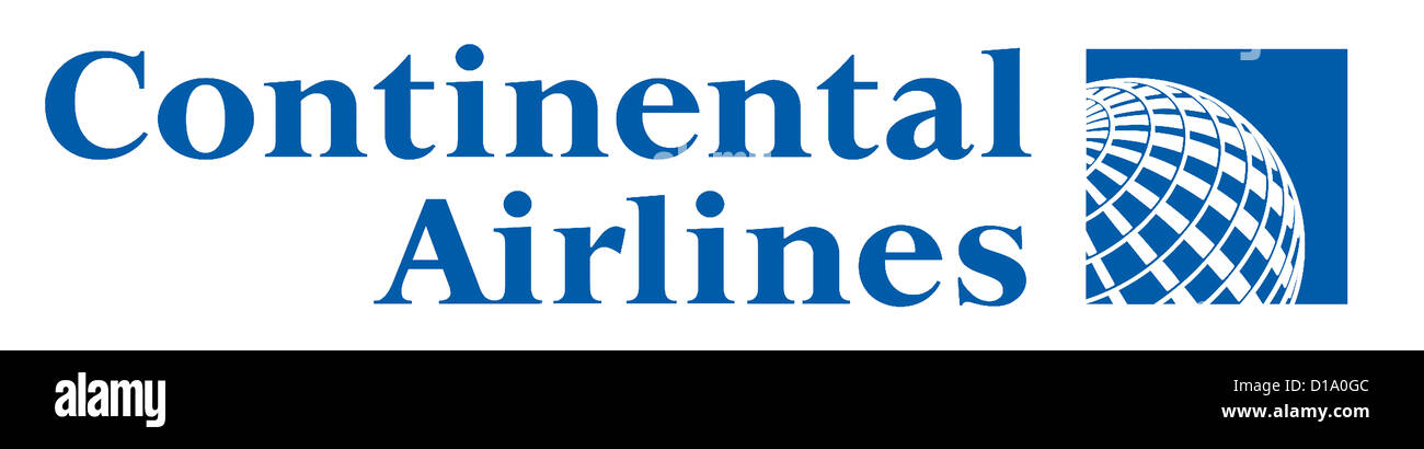 Logo of the American airline company Continental Airlines based in the Texan Houston. - Stock Image