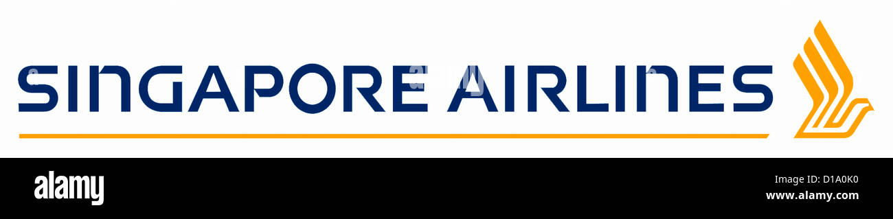 Logo of the airline company Singapore Airlines. - Stock Image