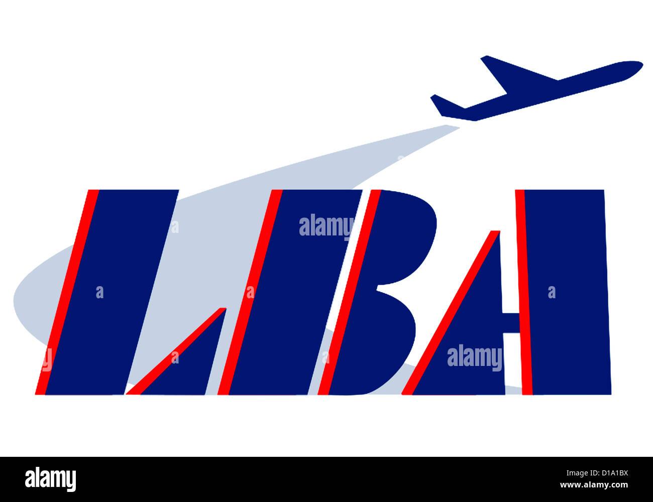 Logo of the Aeronautics Federal Office LBA in Brunswick. - Stock Image