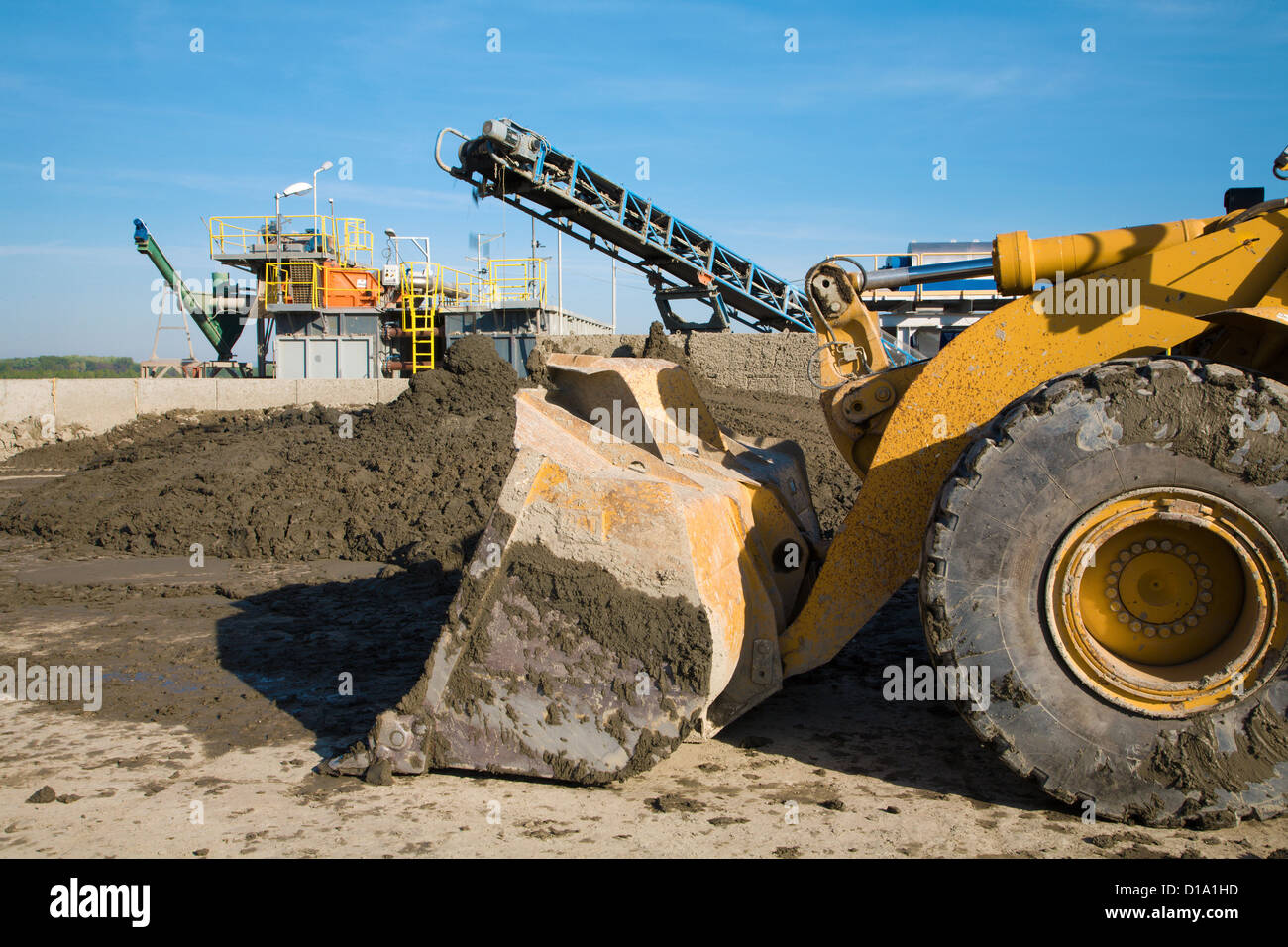 loader and elevator - Stock Image