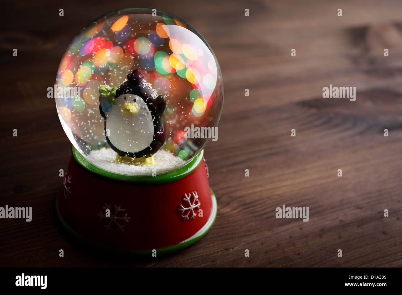 snow globe with snow flakes,beautiful holiday concept - Stock Image