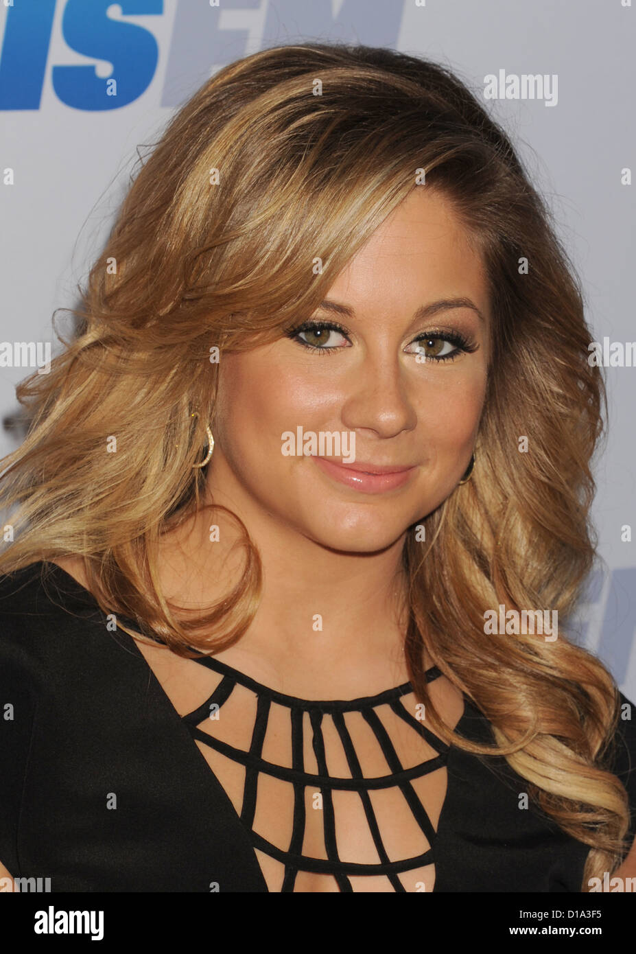 SHAWN JOHNSON US Olympic gold medal gymnast in December 2012. Photo Jeffrey Mayer - Stock Image