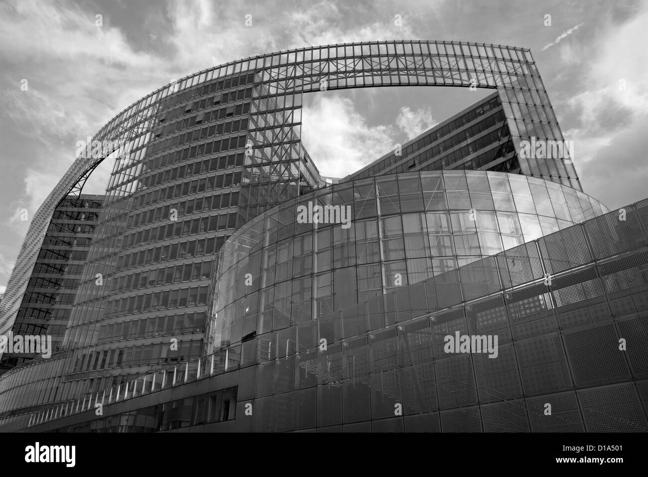 BRUSSELS - JUNE 24: European commission building at Schumann square on June 24, 2012 in Brussels. - Stock Image