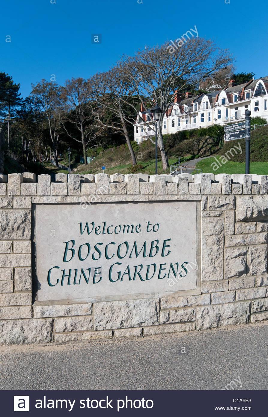 Boscombe Chine Gardens off Boscombe promenade opposite the pier in Dorset England UK - Stock Image