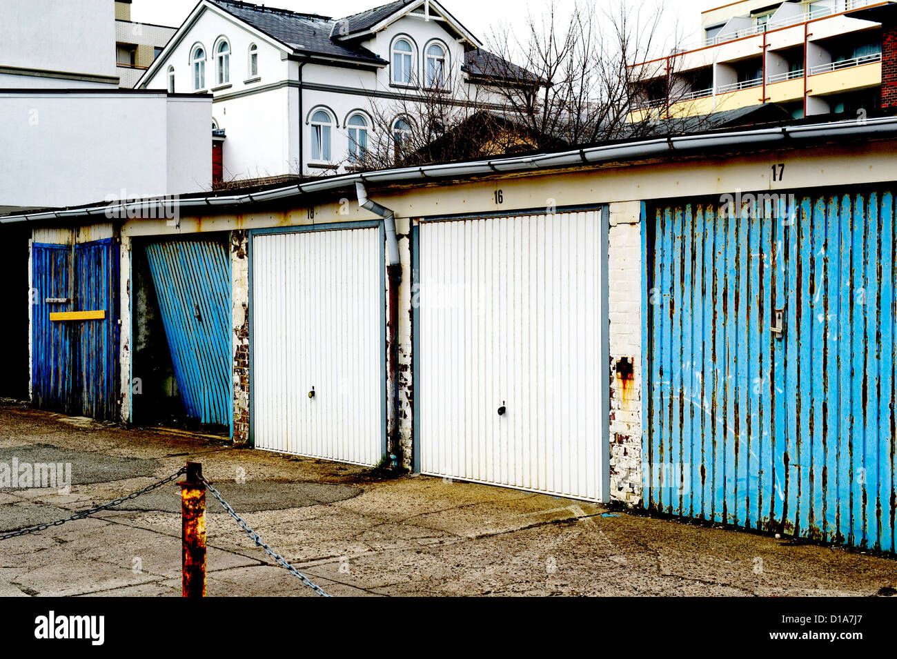Hinterhof - Stock Image