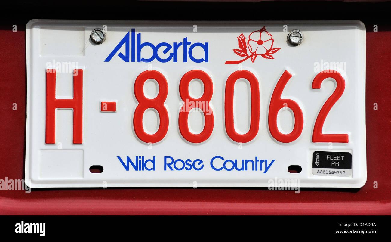 Canadian vehicle number plates Stock Photo: 52476126 - Alamy