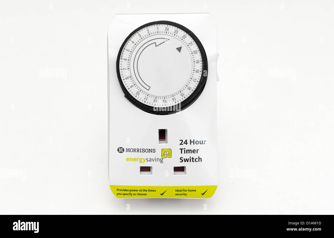 24 hour plug socket  timer switch - Stock Image