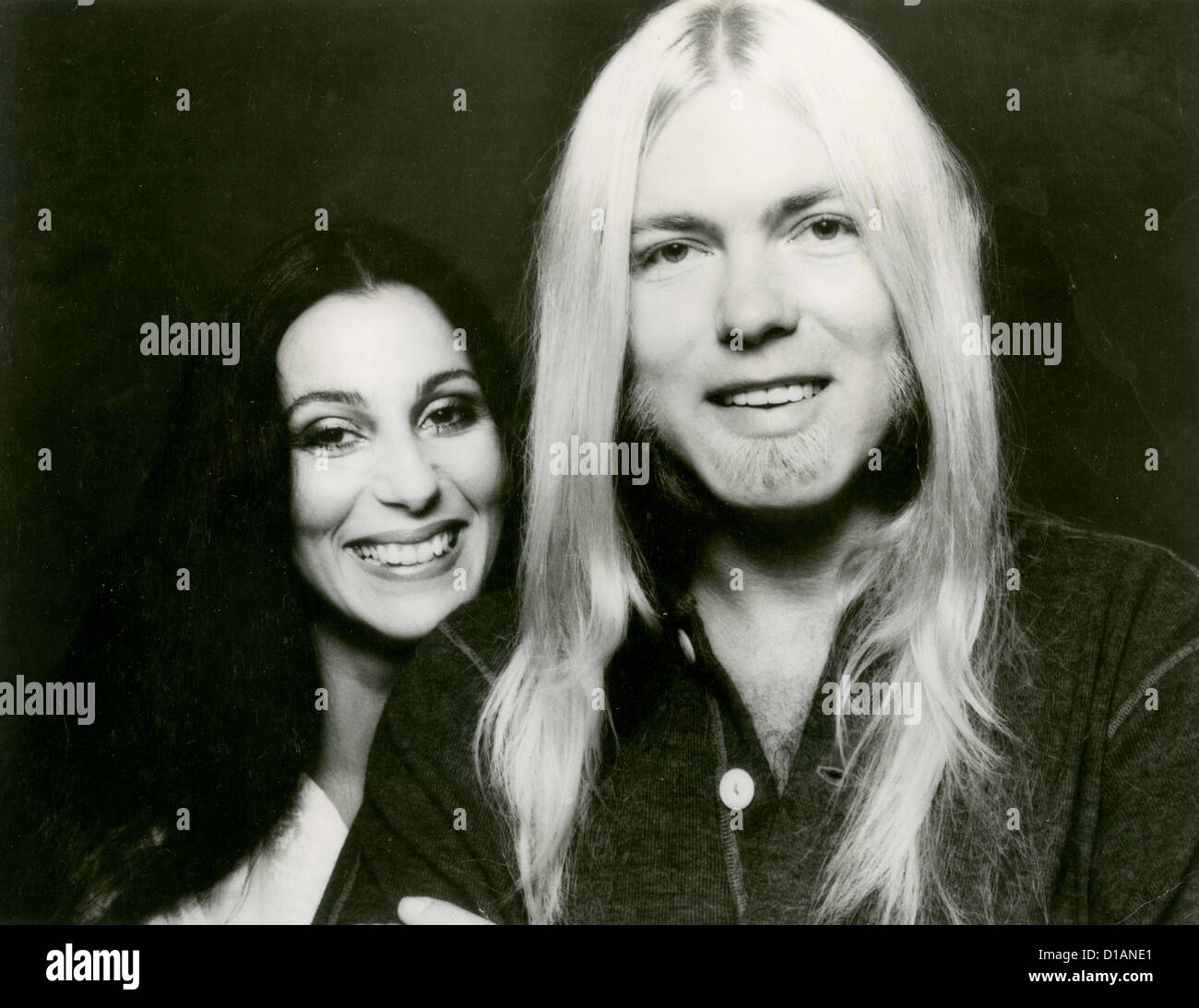 CHER  Promotional photo with fellow US musician Greg Allman about 1976 - Stock Image