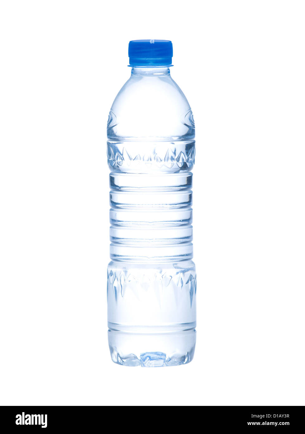 Empty and clear drinking water bottle needed you to putting a new brand or sign - Stock Image