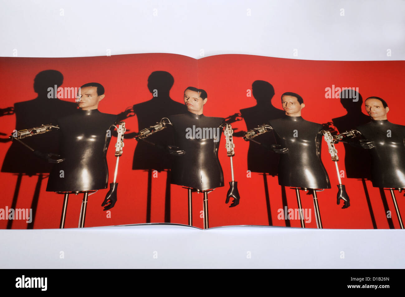 Booklet produced by German electronic band Kraftwerk Stock Photo