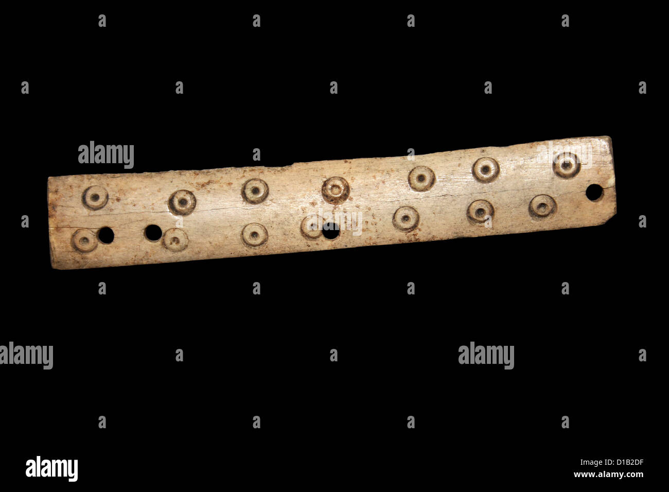 Bone Artefact Comb Carvings - Stock Image