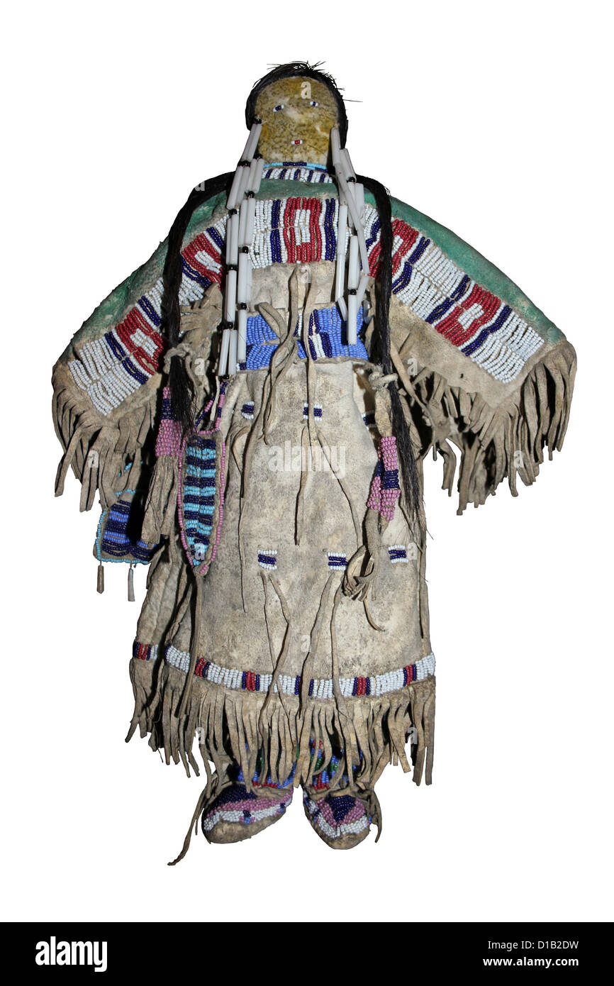 A Plains Indian Doll - Stock Image