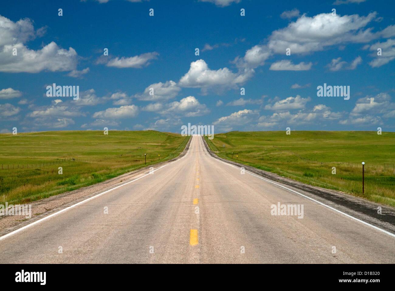 Highway 85 north of Spearfish, South Dakota, USA. - Stock Image