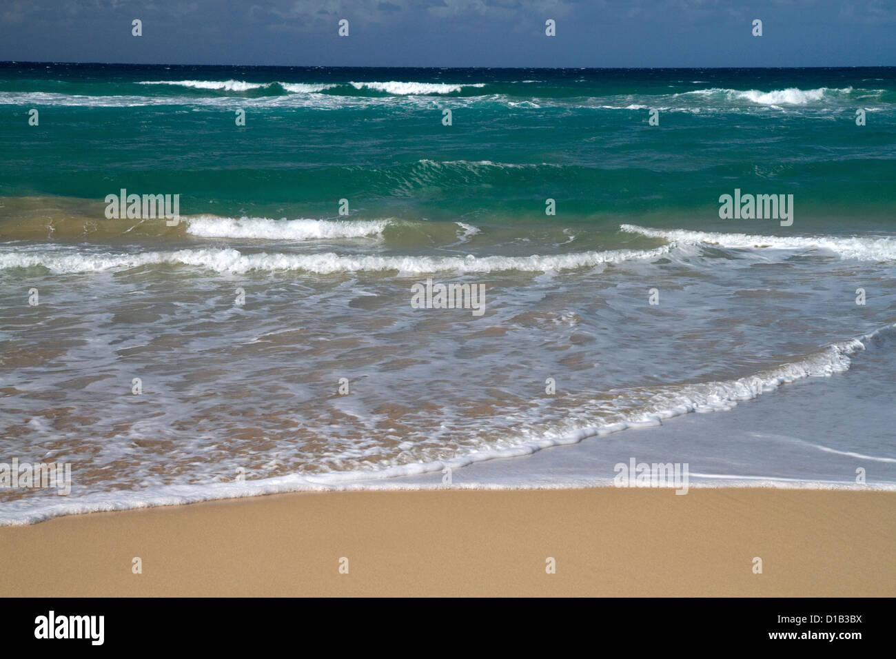 Polihale Beach and State Park located on the western side of the island of Kauai, Hawaii, USA. Stock Photo