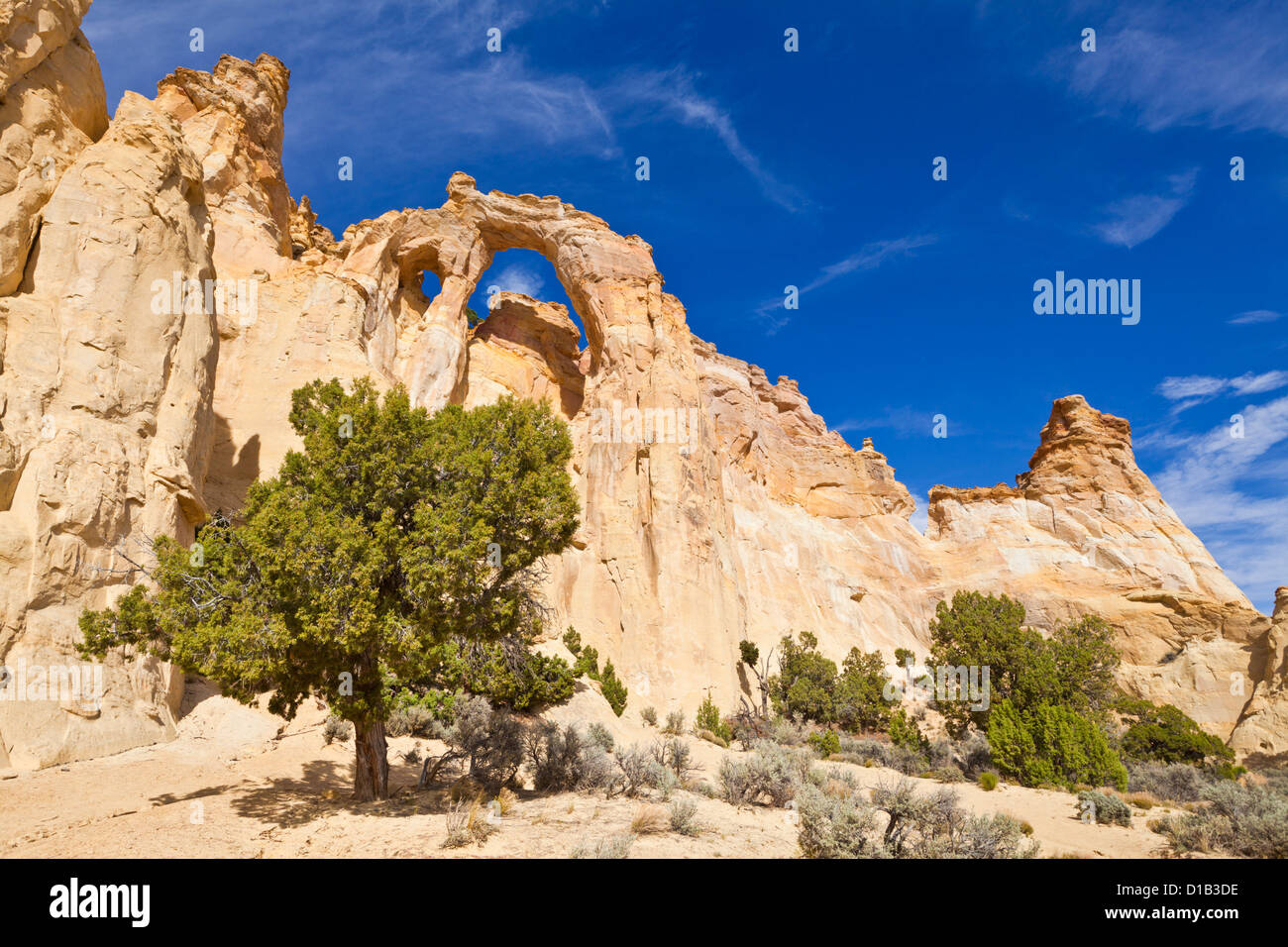 Grosvenor Arch, Cannonville, Grand Staircase-Escalante National Monument, Utah, United States of America, North - Stock Image