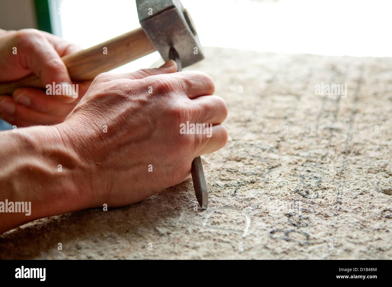 Sculptor works - Stock Image