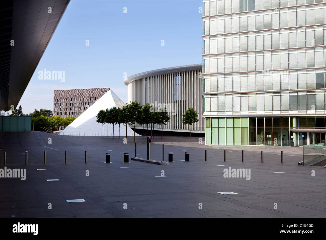 New Philharmonic Hall, concert hall of the Philharmonique du Luxembourg, Place de l'Europe, Kirchberg, Luxembourg, - Stock Image