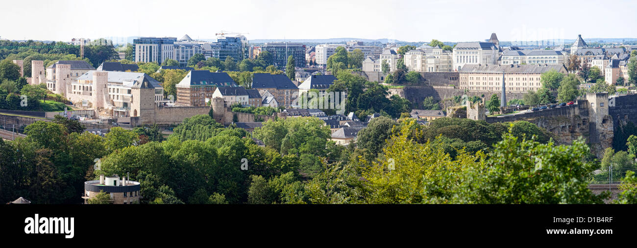 View from the Kirchberg-plateau, Luxembourg, Europe - Stock Image