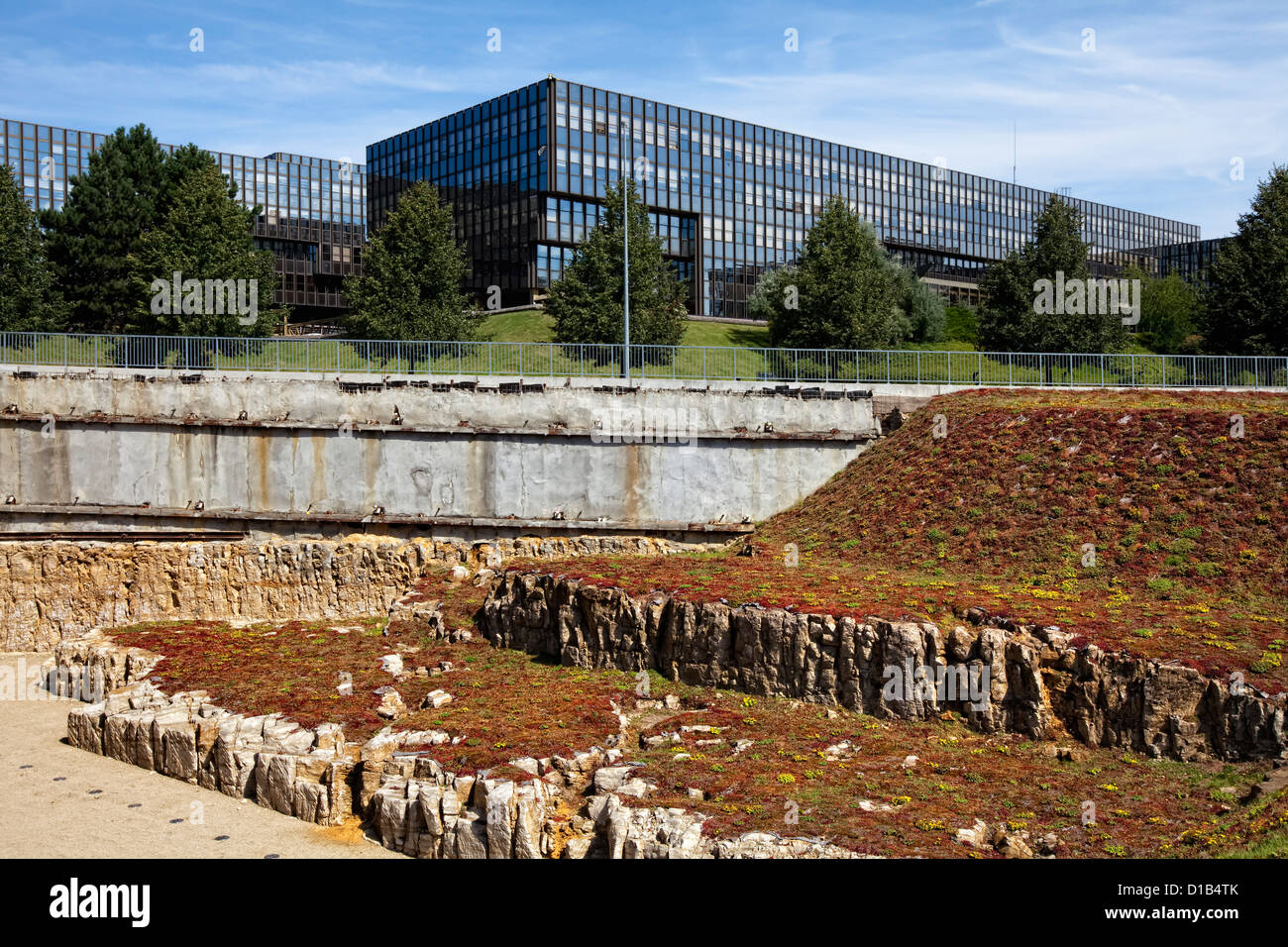 European Commission, Jean Monnet Building, European quarter, Kirchberg plateau, Luxembourg City, Europe - Stock Image