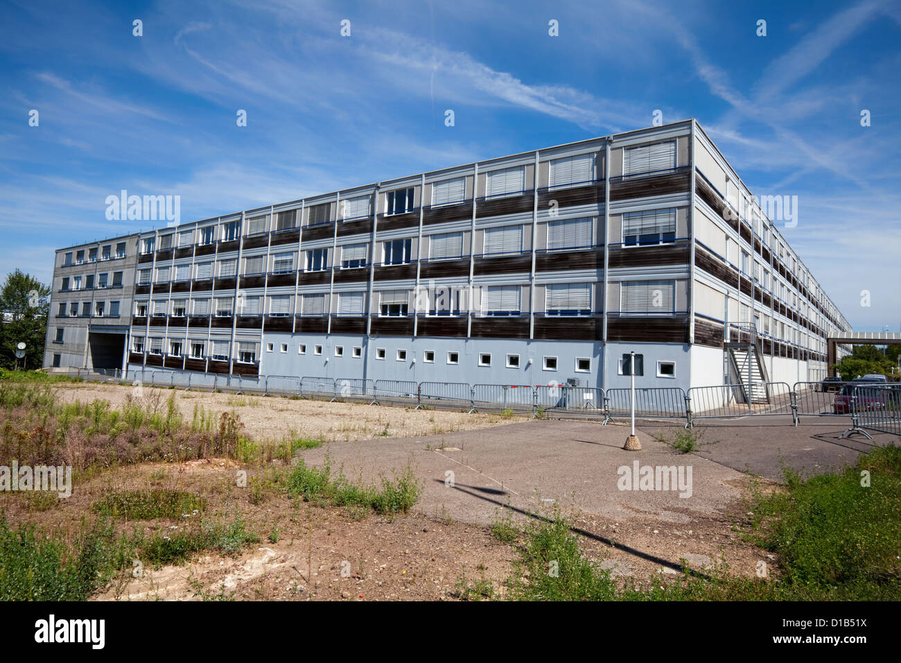Container Building, European Court of Justice, Kirchberg, Luxembourg City, Europe - Stock Image