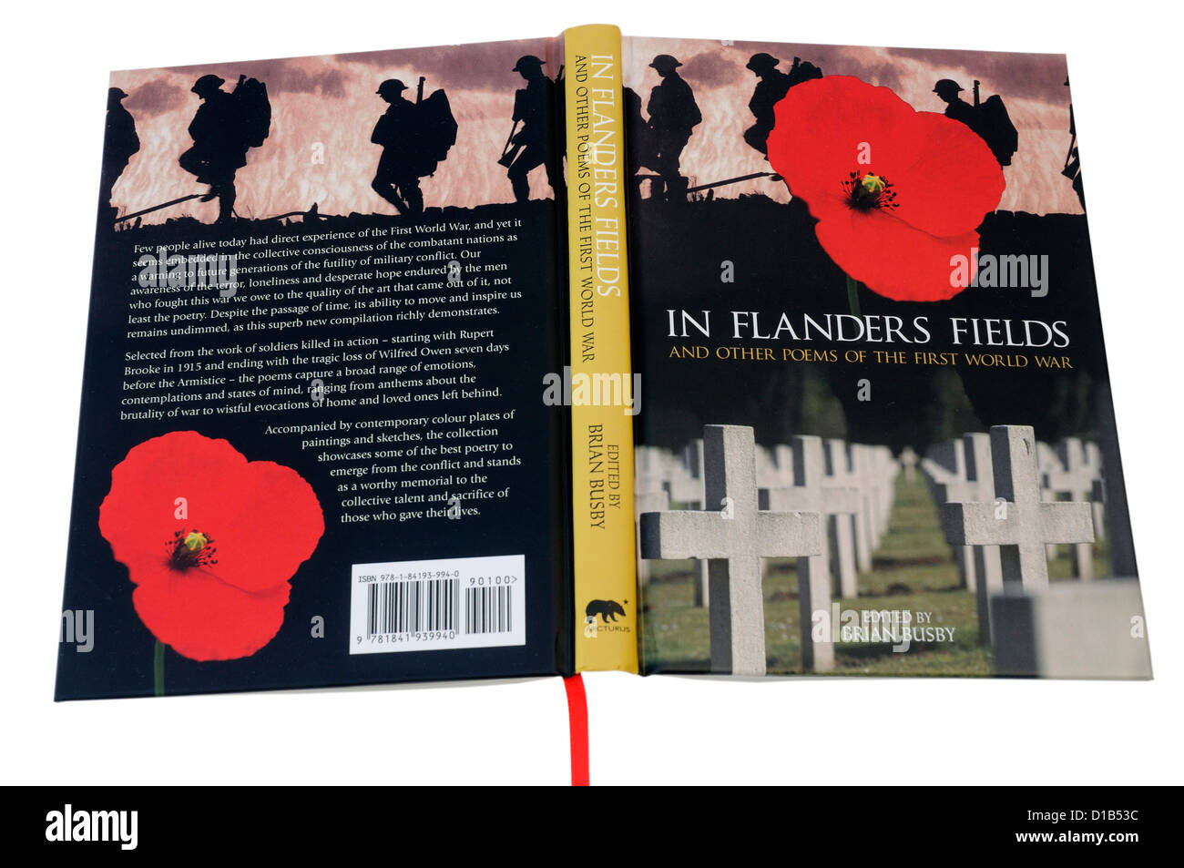 In Flanders Fields, an anthology of First World War poetry - Stock Image