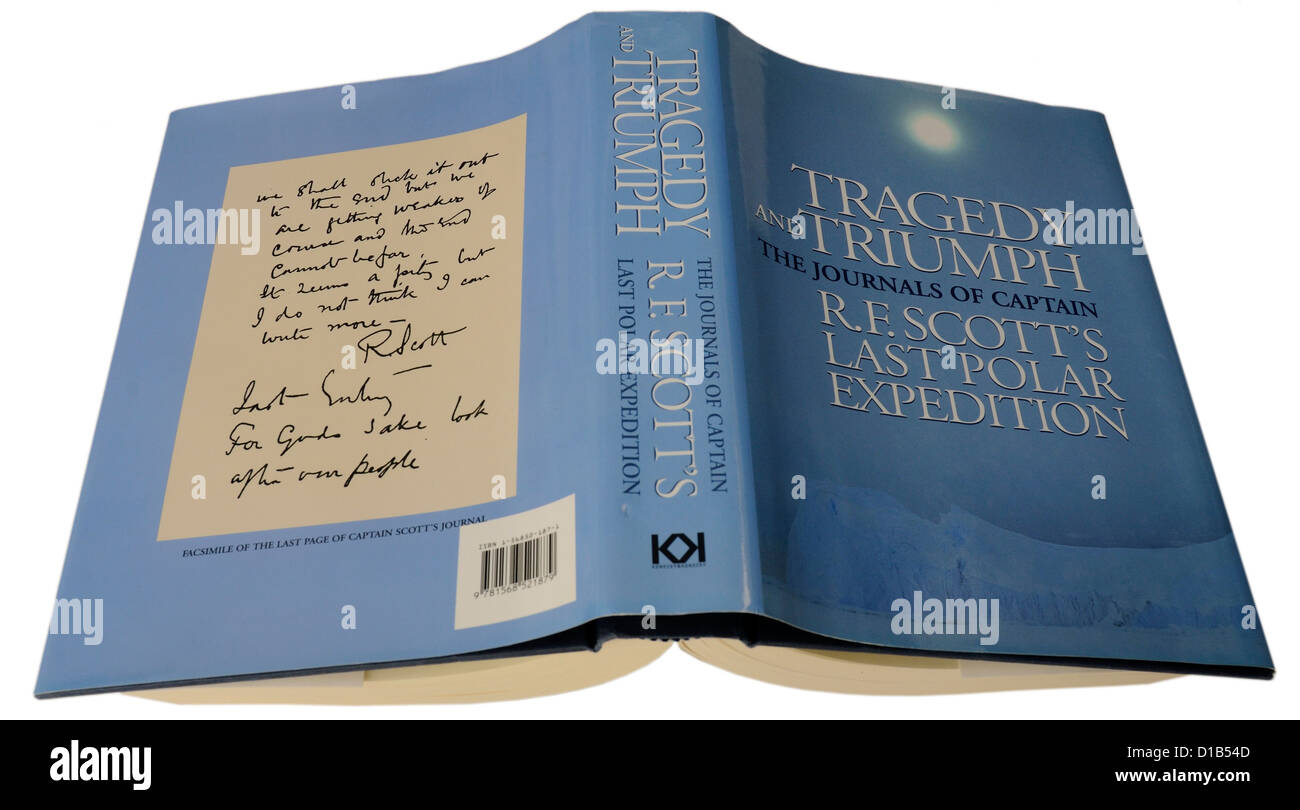 Triumph and Tragedy, the journals of Capt RF SCott - Stock Image