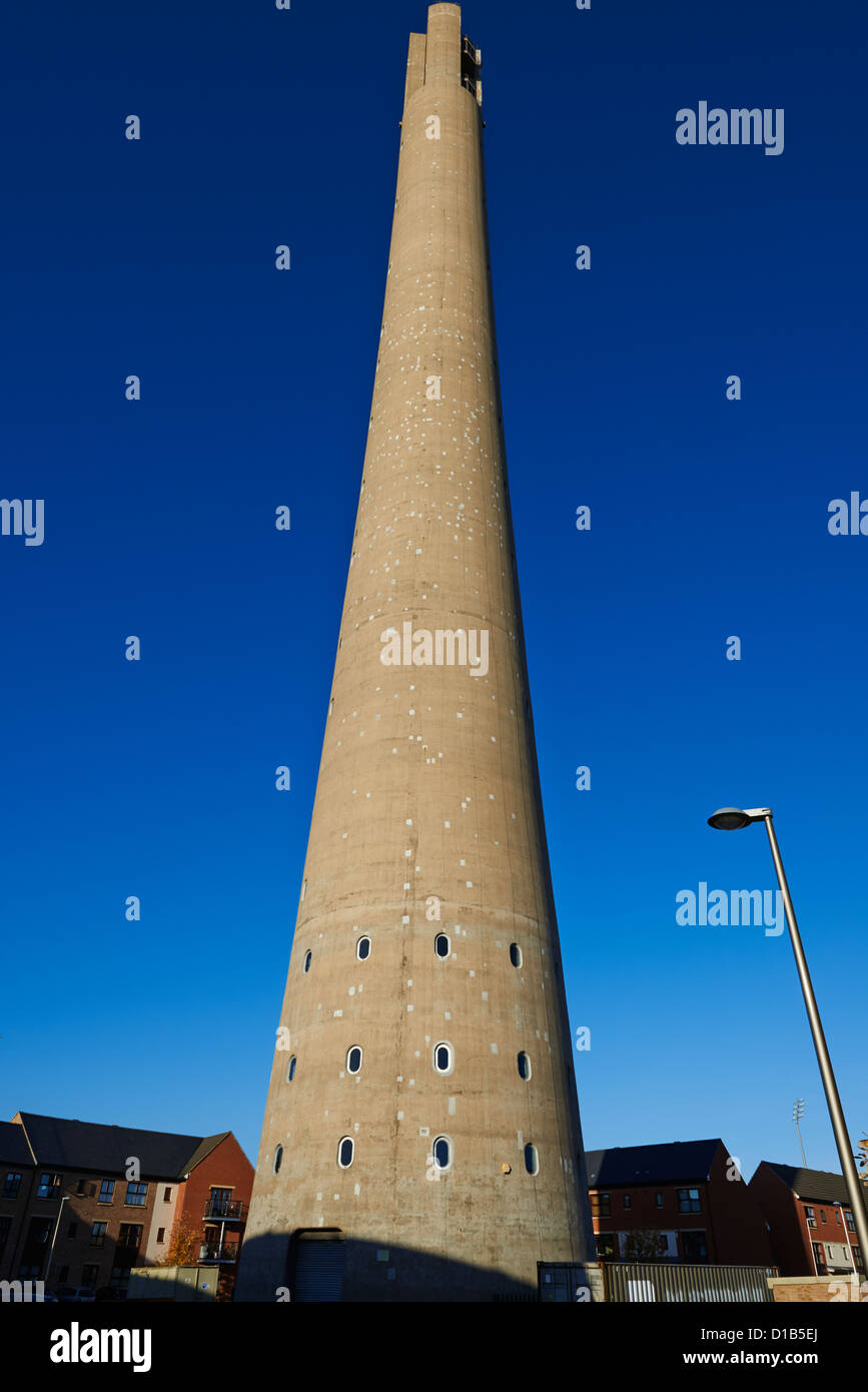 National Lift Tower known locally as the Northampton Lighthouse Tower Square Northampton UK - Stock Image
