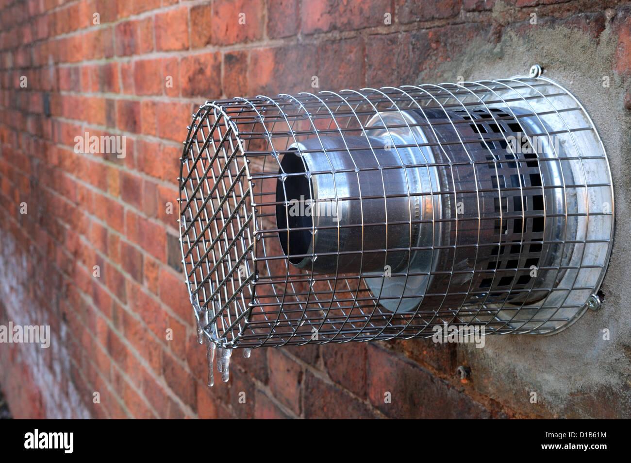 Condensing Boiler Exhaust Vent. - Stock Image