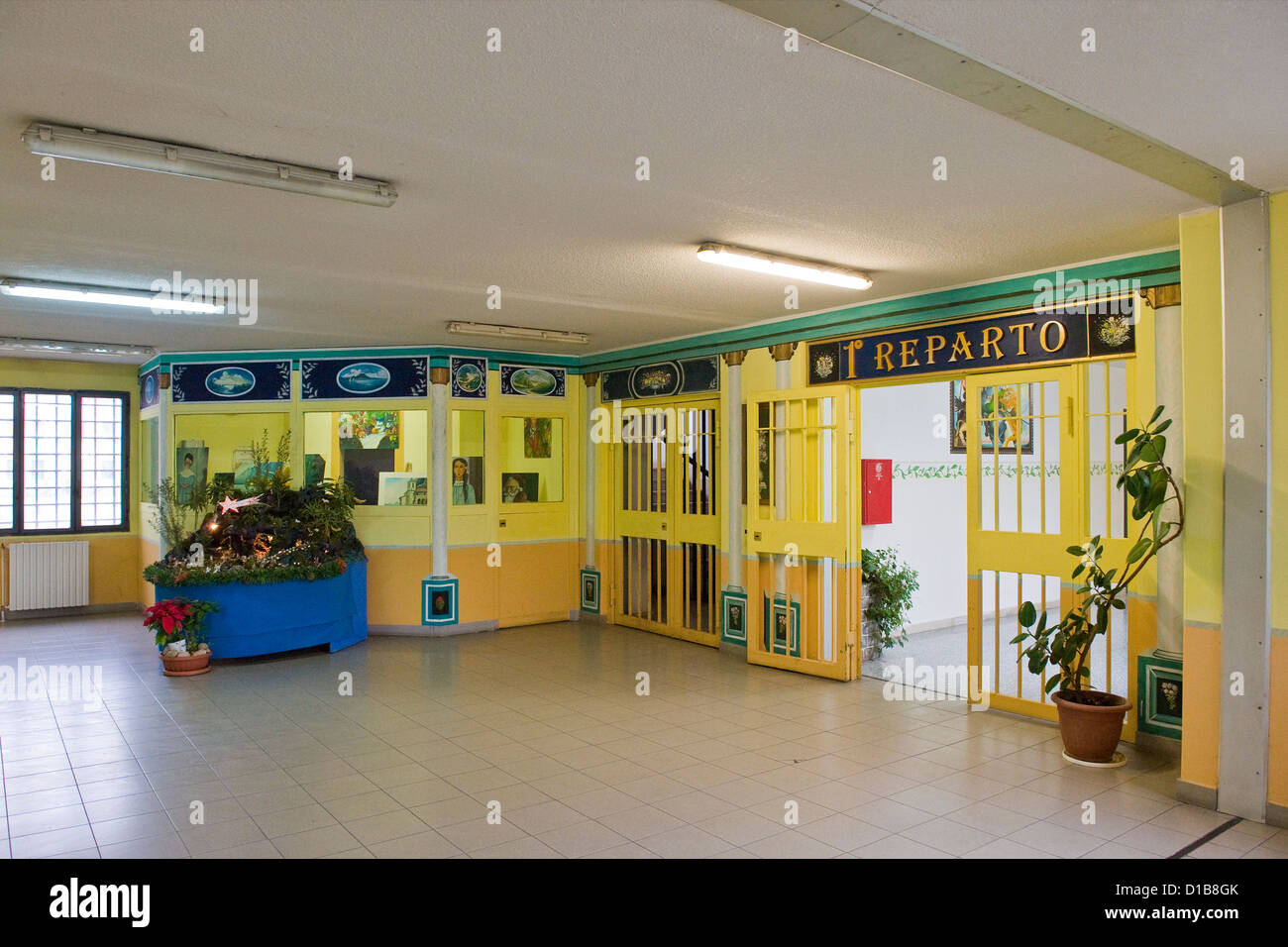 Italy, Bollate, penitentiary of Milan. First ward - Stock Image