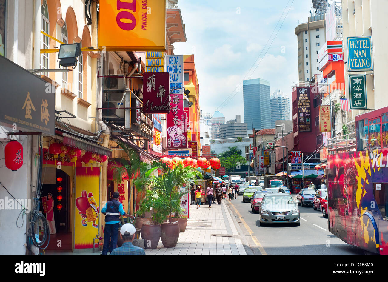 Busy Chinatown street in KL. Kuala Lumpur - Stock Image