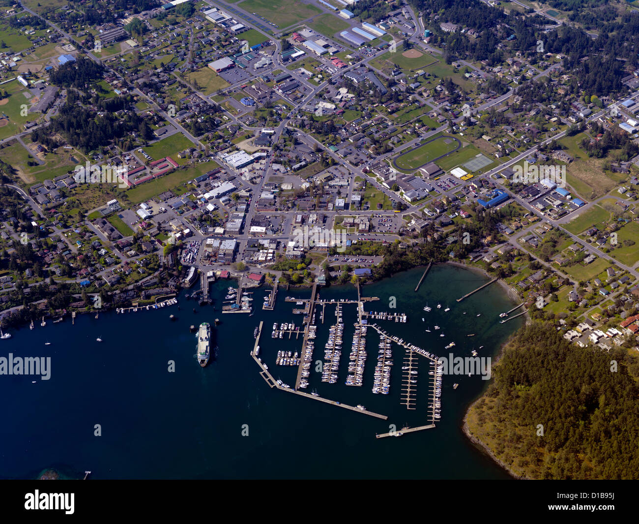 Aerial pictures of washington harbors