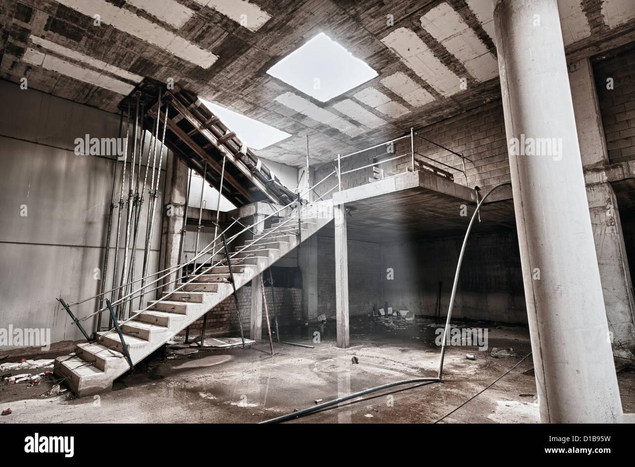 Abandoned building. - Stock Image