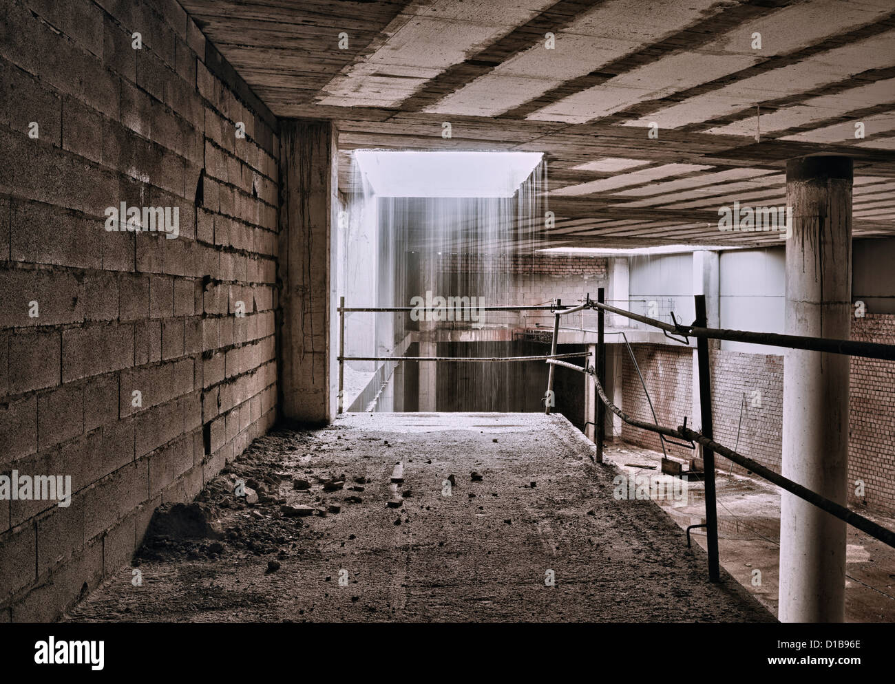 Abandoned building. - Stock Image