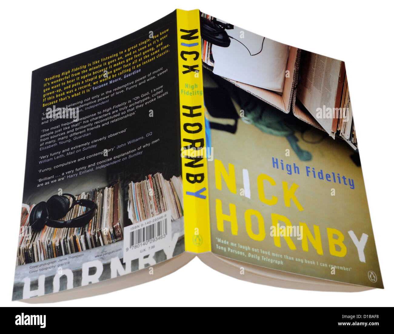 High Fidelity by Nick Hornby - Stock Image