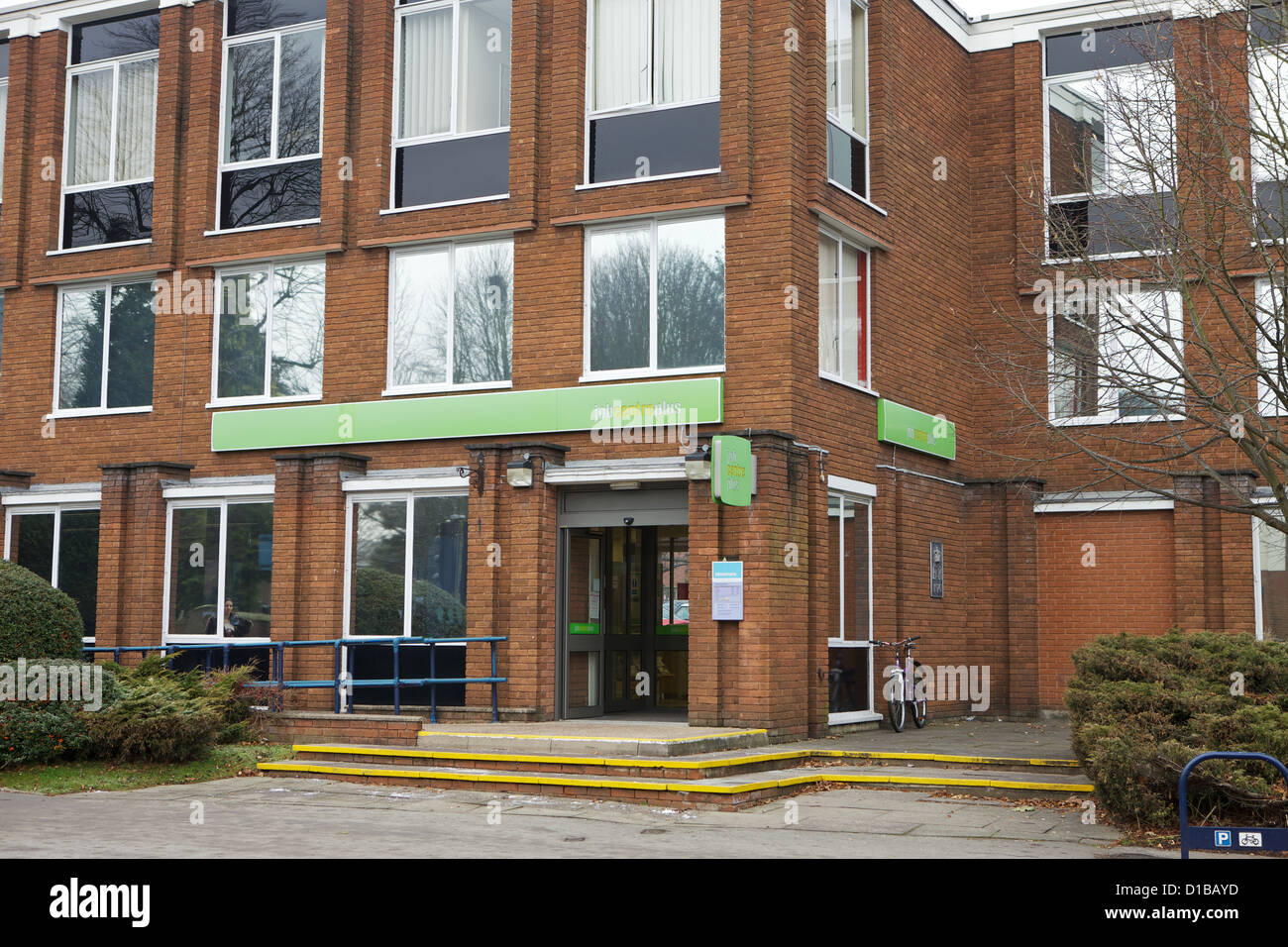 Front of Solihull Job Centre, West Midlands - Stock Image