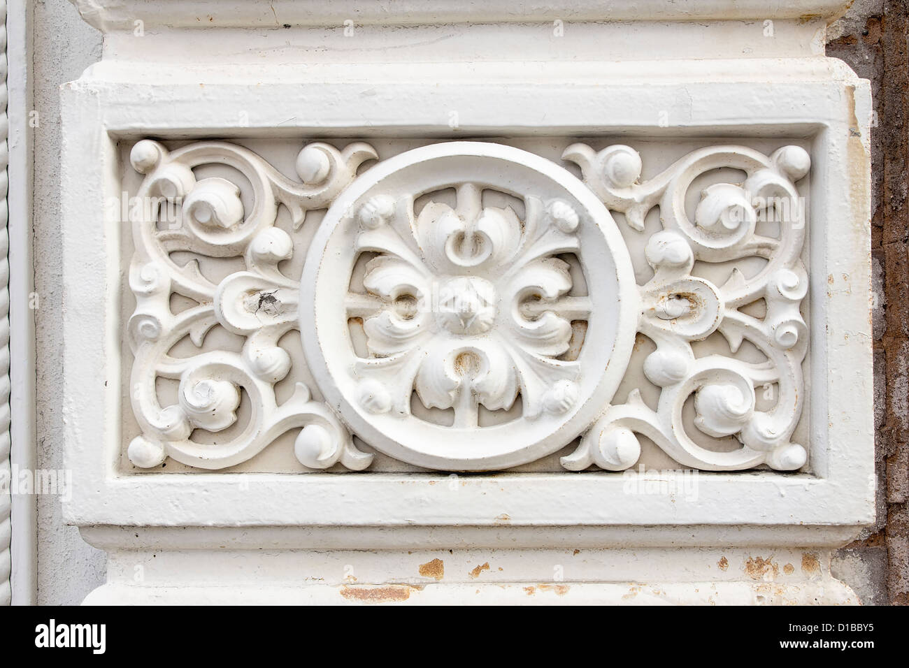 Renaissance Victorian Wall Architectural Detail Background - Stock Image