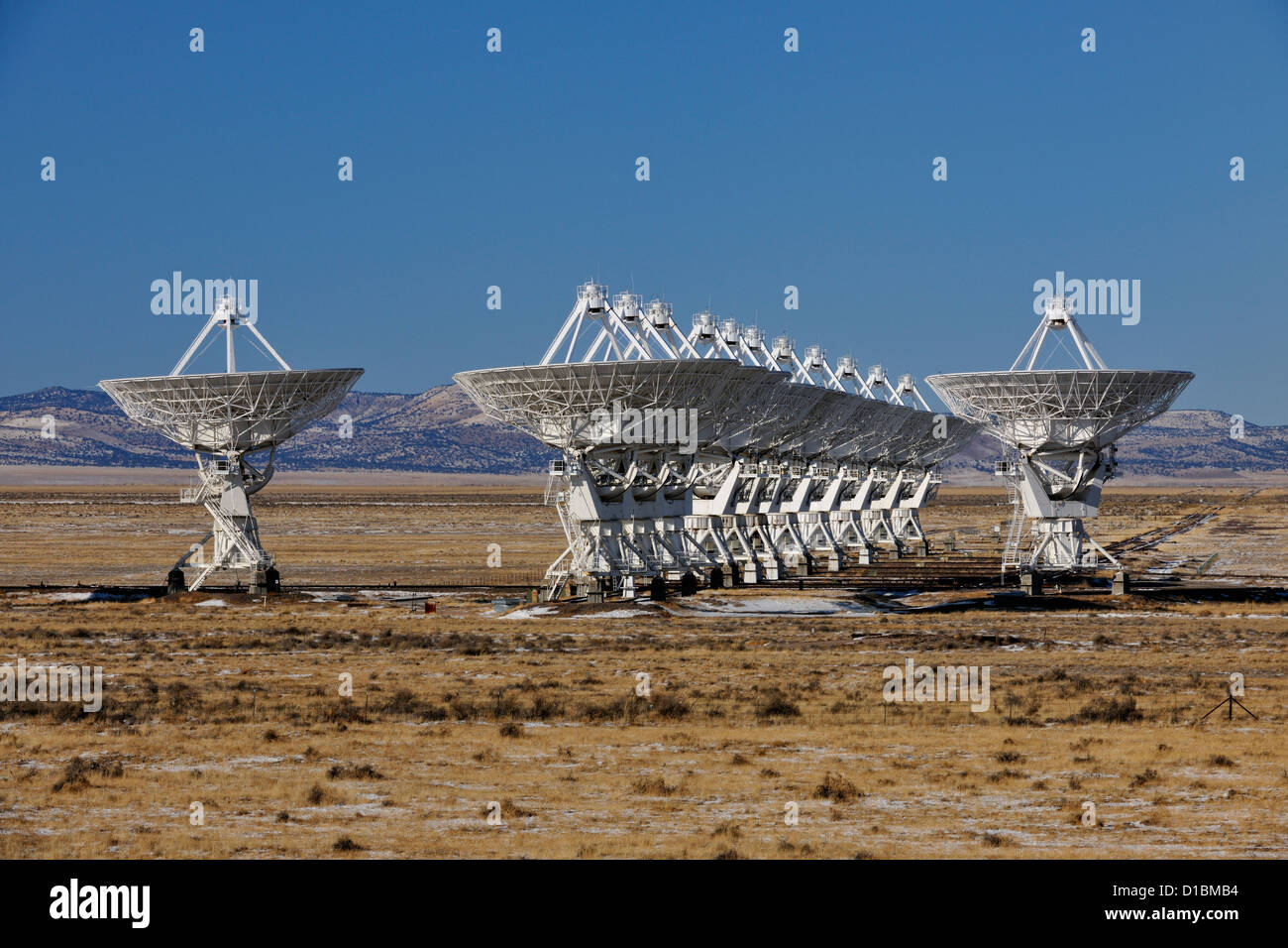 The Very Large Array, Plains of San Augustine, near Magdalena, New Mexico, USA - Stock Image