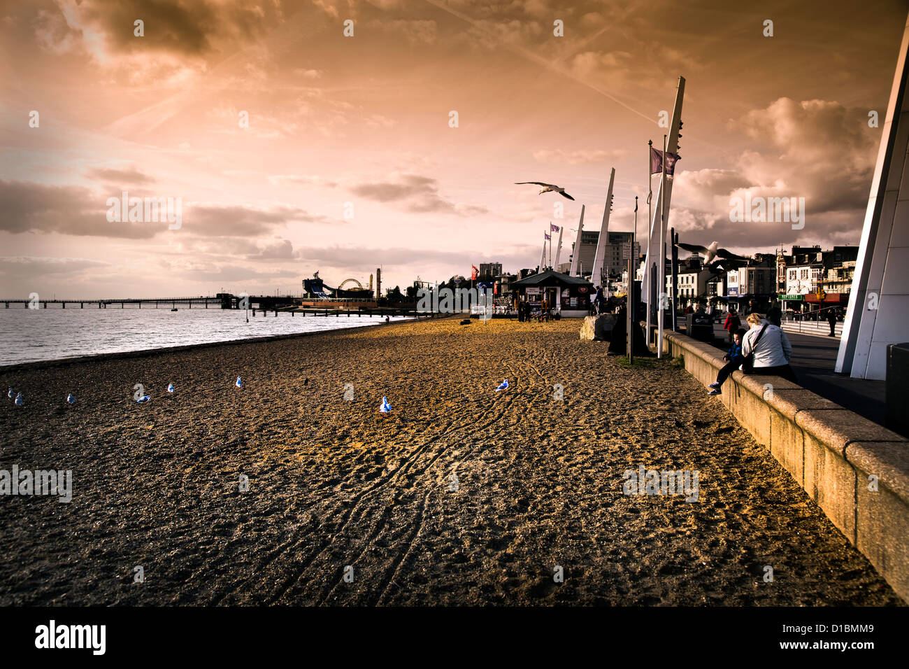southend on sea seafront - Stock Image