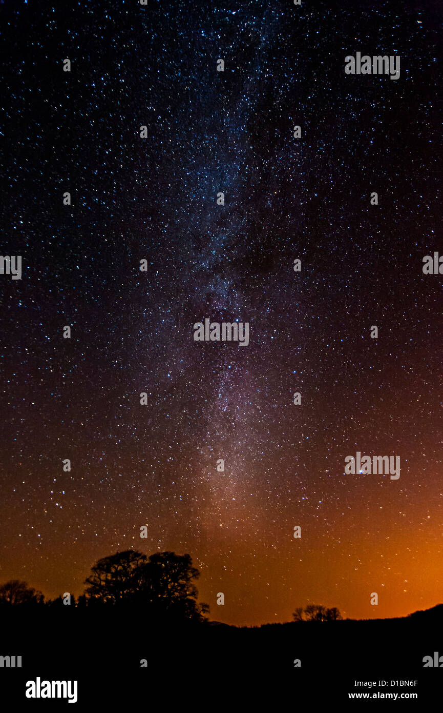 The Milky Way in Scotland - Stock Image