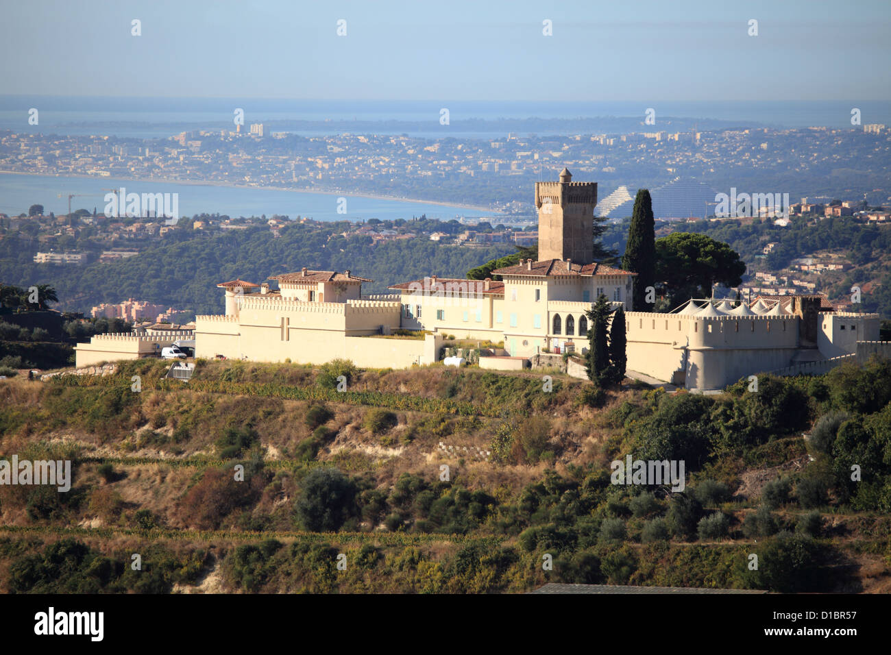 The Chateau De Cremat In Saint Roman De Bellet Near Nice City Stock