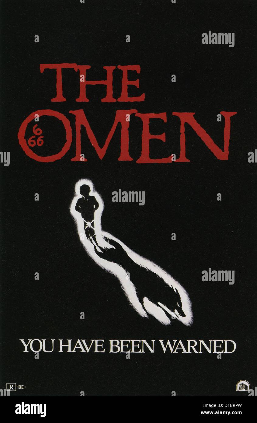 THE OMEN Advance teaser poster for 1976 20th Century Fox film - Stock Image