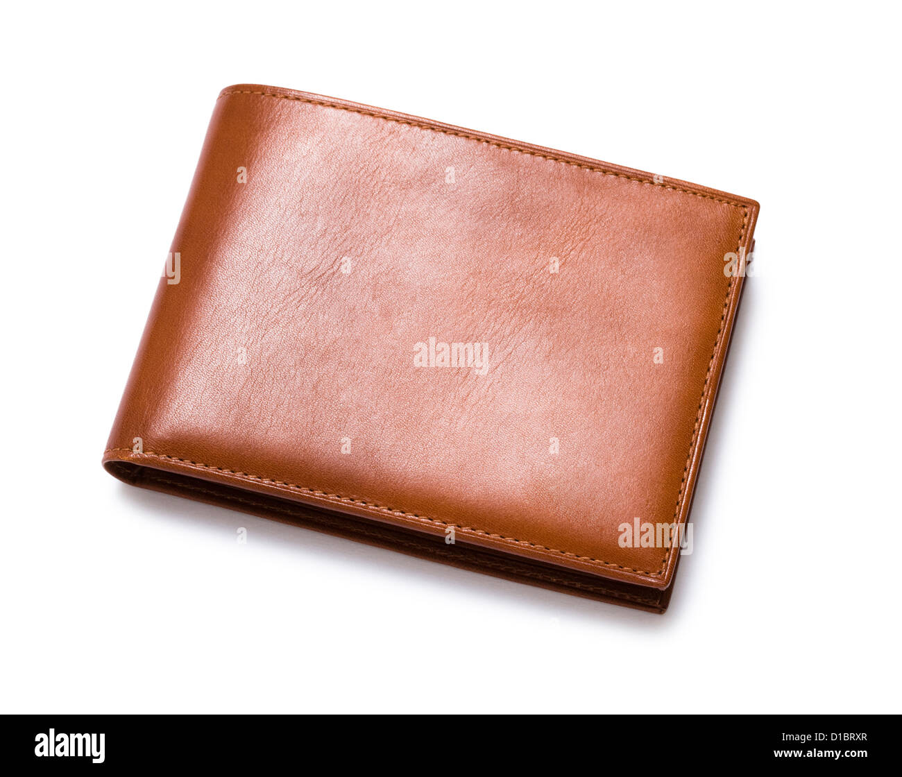 Leather wallet. - Stock Image