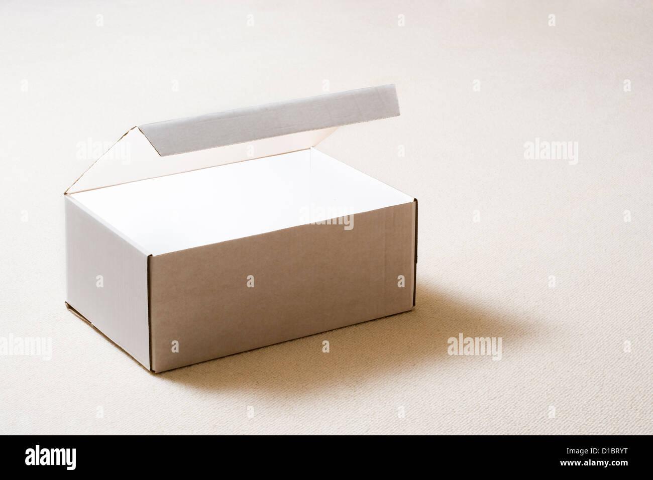 Box lit inside. - Stock Image