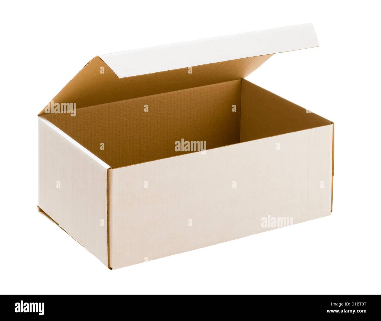Empty cardboard box. - Stock Image